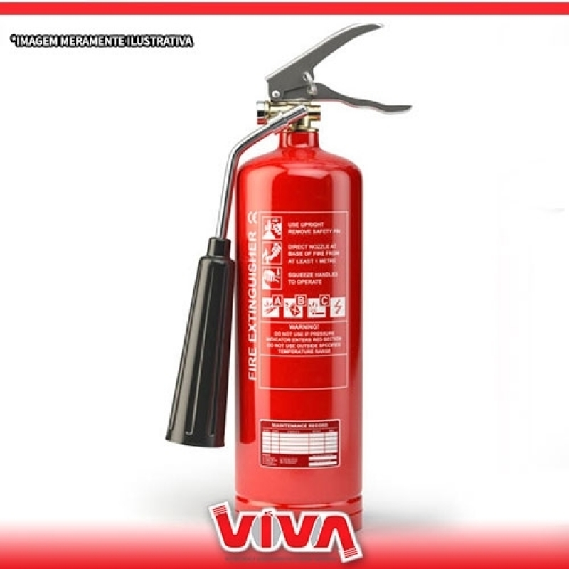 Extintor Co2 6kg Vila Endres - Extintor Pó Químico