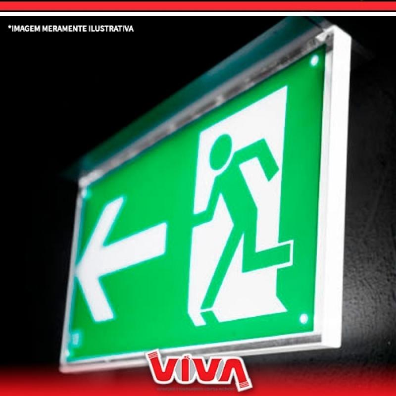 Orçamento de Sinalização de Emergência Led Santana - Sinalização para Saída de Emergência