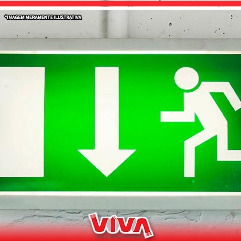 Orçamento de Sinalização de Emergência Luminosa Vila Leopoldina - Sinalização de Emergência contra Incêndio