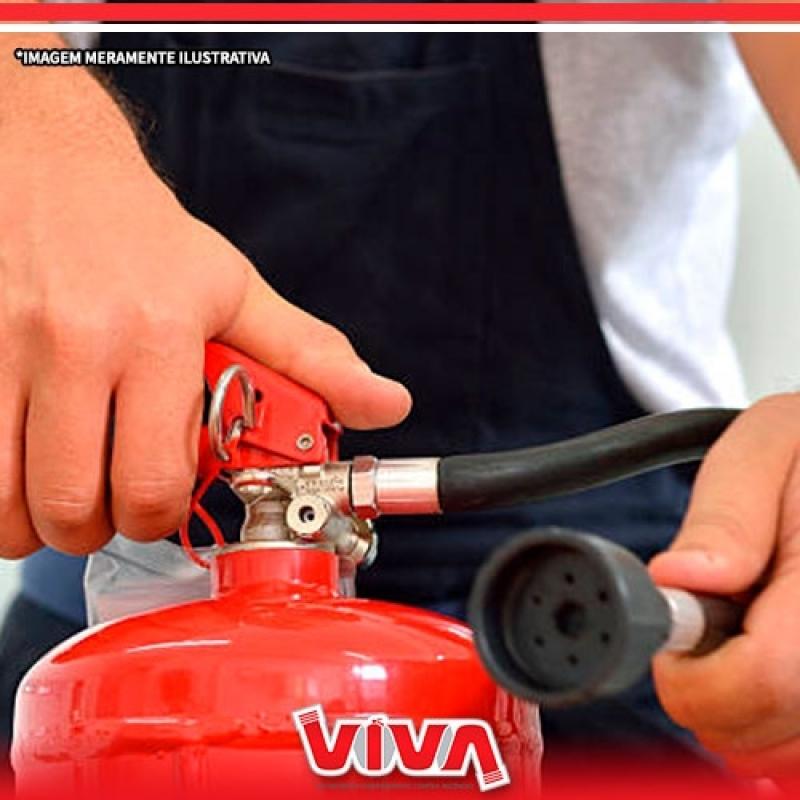 Recarga de Extintor Pó 4kg Cantareira - Recarga de Extintor 4 Kilos Abc