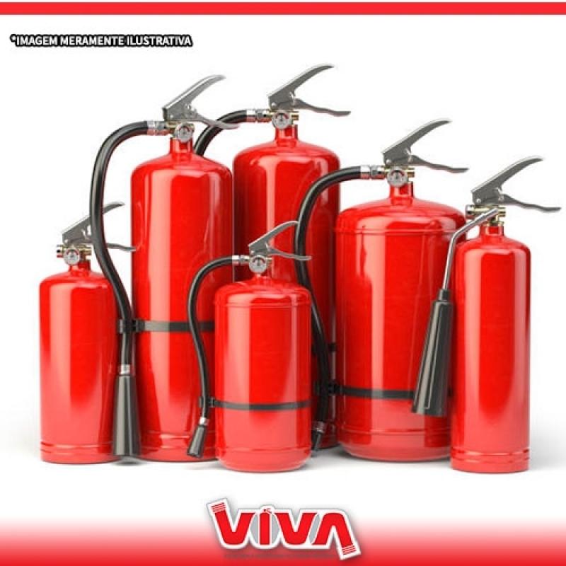 Recarga de Extintores 4 Kilos Pó Abc Água Branca - Recarga de Extintor de água