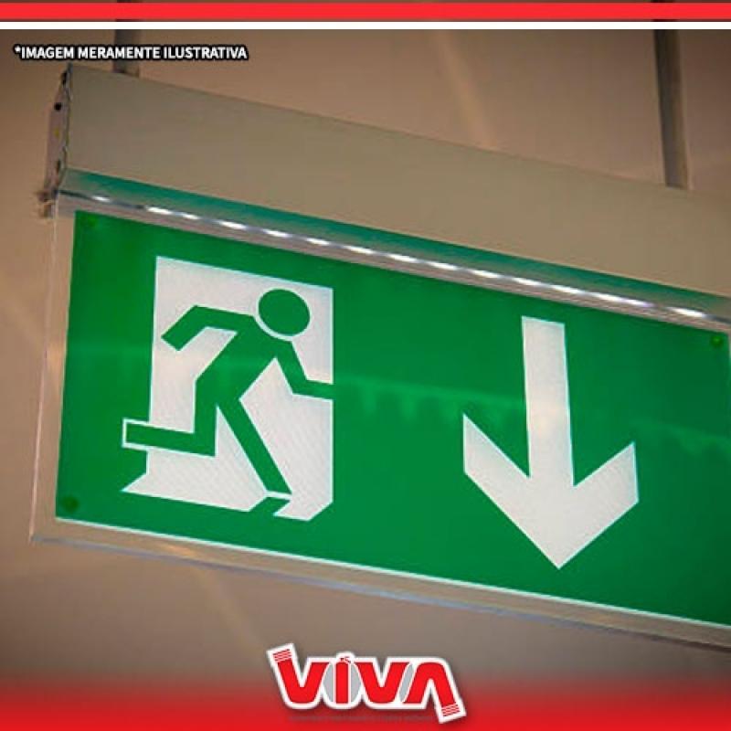 Sinalizações para Saída de Emergência Vila Guilherme - Sinalização de Emergência Luminosa