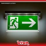 sinalização de emergência para shopping Caieiras