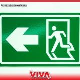 sinalização para saída de emergência cotação Chora Menino