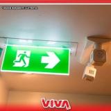 sinalização de emergência para prédios