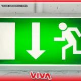 sinalização para saída de emergência