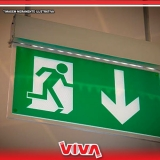 sinalizações para saída de emergência Socorro